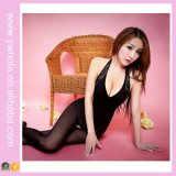 Pink Fishnet Sheer Nylon Body Stocking Sex Mesh Ladies 'Corset European Nurse Uniform Adulto Sexy Party Costume Lingerie
