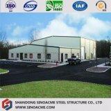 Entrepôt léger préfabriqué d'usine de structure métallique de grande envergure