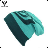 高品質100%のアクリルのジャカード二重層のスキー帽子