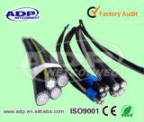 Yjv Electric Cable XLPE Isolação PVC bainha 3 * 10mm2 + 1 * 6mm2