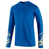 Hombres Ropa de atletismo desgaste de la aptitud camisa deportiva de compresión con la impresión reflectante