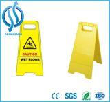 PP Sinal de aviso de segurança do chão molhado amarelo