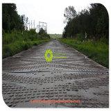 Переработанных UHMWPE против воздействия дорожного коврик временных дорог для цвет пользовательского размера