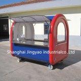 コーヒーサービングカートのステンレス鋼の熱い食糧トラック