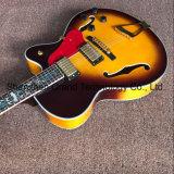 Haut de l'érable de Jazz de corps creux L5 guitare électrique en jaune (JH-5)