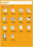Contactdoos 2 van Europa van de Adapter van de reis de Stop van de Speld aan Contactdoos 3 Schuko