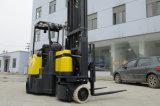 De nieuwe Ontworpen 2ton Elektrische Smalle Vrachtwagen van de Vorkheftruck van de Doorgang Openlucht Opslaande