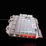 Teclado colorido del contraluz de Gamer con el diseño de la aleación de aluminio (KB-906EL-C)