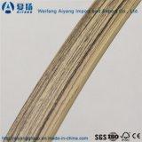 Кольцевание сплошного цвета/деревянных зерна цвета PVC края для мебели