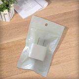 Sacs de plastique blanc conditionnement refermable Pochette pour le câble USB