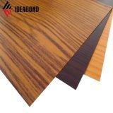 Construção de materiais de parede decorativos exteriores olhar madeira PAÍSES ACP