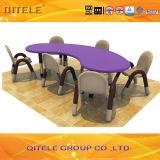 L'école les enfants de table en plastique avec Pied de Table en acier inoxydable (IFP-004)
