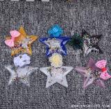 方法5先の尖った星3Dの文字パッチの水晶スパンコールのビードのモチーフのアップリケの衣服のアクセサリ