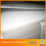 Placa acrílica plástica de cor branca opaque PMMA Perspex Folha para impressão