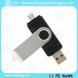 Черный вращая USB 32GB OTG для Android мобильных телефонов (ZYF1624)