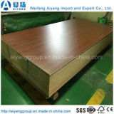 O papel de madeira da melamina da grão enfrentou a placa de partícula para a mobília interna