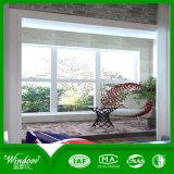 Cuisine moderne et de la porte de la fenêtre PVC dans le profil de couleur blanche en verre clair de la fenêtre PVC