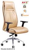 Cadeira de madeira chinesa da saliência do escritório do braço do couro da mobília do hotel (B2014-1)