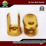 CNC Aluminum Machining Parts точности с Yellow Anodizing Finish