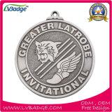 Медали сплава цинка изготовленный на заказ с печатание тесемки ваш логос