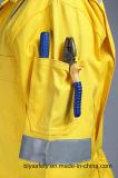 100% Coton Sécurité Long Sleeve Proban Flame Retardant Coverall avec bande réfléchissante