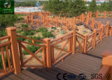 Jardín y parque compuesto de plástico valla de madera