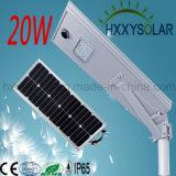 20W l'énergie solaire rue feux à LED avec batterie au lithium