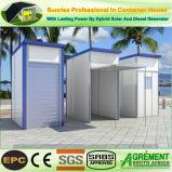 Het geprefabriceerde huis prefabriceerde de Mobiele Opslag van de Winkel van de Staaf van de Container van de Muur van het Glas Porable