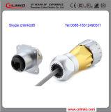 Conector impermeable de Ethernet RJ45 del enchufe femenino RJ45