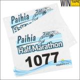Numéros de bavoirs de chemin de marathon de Tyvek de papier de marque d'ODM/OEM
