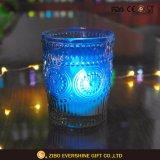 耐熱性青いガラス蝋燭ホールダー