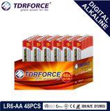 pile sèche alkaline primaire de Digitals de fabrication de 1.5V Chine (LR6-AA 48PCS)