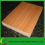 madera contrachapada de la melamina de la base de la madera dura de 18m m
