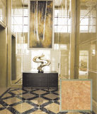 Piedra de color oro brillante aspecto pulido Porcelana Azulejos de suelo en China (PG6099)