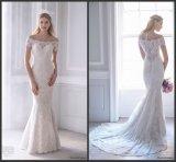 Kurzschluss Sleeves Brautkleider weg vom Schulter-Spitze-Hochzeits-Kleid S201754
