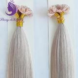 Cor Siliver queratina U Dica Extensão de cabelo
