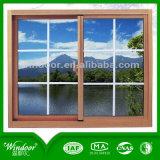 U.. E cinco grandes exposición Venta caliente de la ventana de PVC con pantalla de mosquitos de la ventana de PVC para la casa