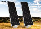 réverbère solaire complet 25watt de la capacité élevée DEL de batterie au lithium