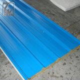 Blaues farbiges Galvalume Rapezoidal Wellblech-Blatt für das Dach hergestellt in China