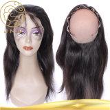 Aaaaaaaa 360の前部未加工ブラジルのバージンのヨーロッパの人間の毛髪の拡張