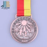 Medaglia su ordinazione del premio di nuoto dello smalto del bronzo dell'oggetto d'antiquariato del campione libero