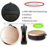 Sos de supervisión de GEO-Fence rastreador de GPS para niños y ancianos/Pet T8s