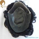 Dünnes Haut indisches Remy Haar-kundenspezifische Haar-Systeme