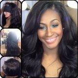 O cabelo natural não processado da cor de Wevy do cabelo humano da onda frouxa brasileira do cabelo do Virgin tece