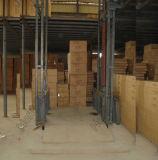 Table élévatrice verticale hydraulique fixée au mur de cargaison d'entrepôt de longeron