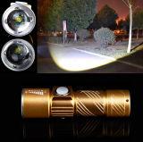 Электрофонарь CREE Q5 СИД Zoomable факела USB материала 2000lm Макс сплава перезаряжаемые миниый