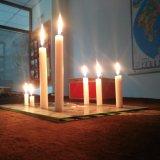 نخلة يشعل شمع بيت لحم أبيض نافذة شمعة