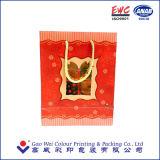 Bolso de papel modificado para requisitos particulares impresión del regalo de la Navidad
