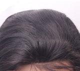 100%の人間の毛髪のかつらボディ波のレースの前部かつら