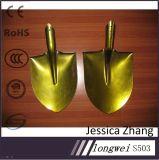 황금 페인트 또는 분말 입히는 S503/S507 강철 삽 헤드